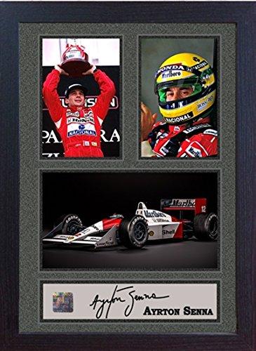 S&E DESING Ayrton Senna signed Sport Memorabilia McLaren-Honda F1 Champion Framed