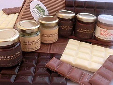 Schokoladen- und Karamellcreme Frühstückspaket sowie Honig und Fruchtaufstrich, mixed -