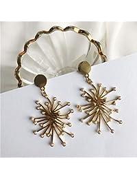 Earrings Home Fuegos Artificiales Abstractos Pendientes de Perlas Adornado Líneas artísticas Exagerados aretes Vintage