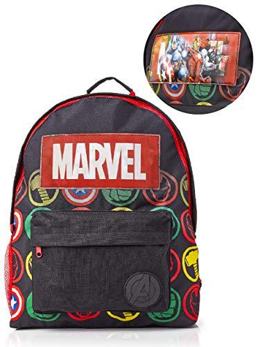 Marvel Avengers Mochila Infantil Marvel, Mochila Escolar Holográfica Capitán América Thor Hulk Iron...