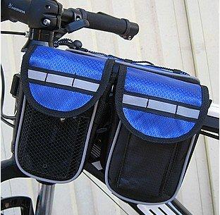 FAN4ZAME Rennrad Reiten Reitferien Auto Vorderes Rohr Sattel Tasche Tasche Reitschule Gepäck Blue