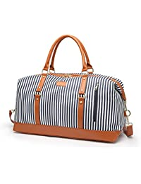 Women Weekender Bag,Large Capacity Canvas Travel Duffel tote Bag Holdalls Weekend Overnight Travel Bag Handbags with Shoulder Straps