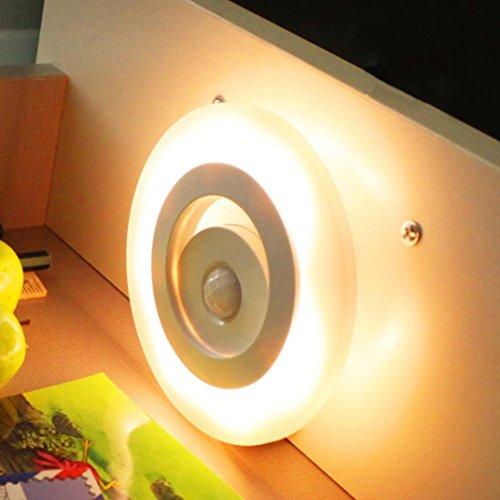 Moderne 4-licht Pendelleuchten (TWIFER Windsensor LED Nachtlicht Energiesparlampe Induktionslicht 360 Grad Licht (Gelb))