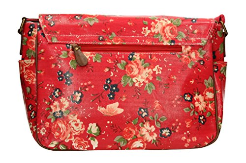 SwankySwans - Borsa a tracolla donna Red