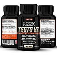 Testosterona - Suplemento nº 1 para hombres y mujeres   90 Capsulas   Alcanzar niveles normales de testosterone   Reducción de fatiga   Obtención metabólica normal de energía   Garantía total