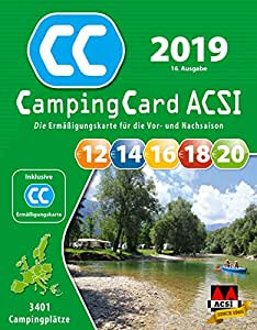 acsi campingcard erm igungskarte 2019 f r die vor und. Black Bedroom Furniture Sets. Home Design Ideas