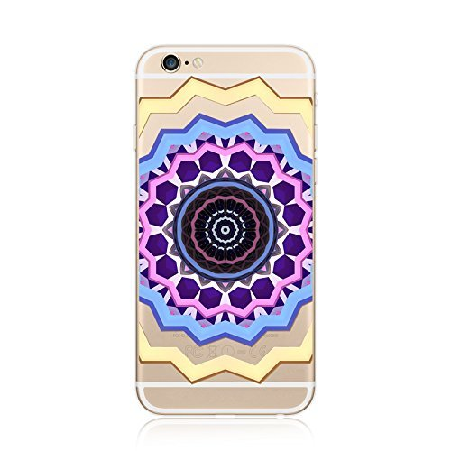 Coque iPhone 6 6s Housse étui-Case Transparent Liquid Crystal en TPU Silicone Clair,Protection Ultra Mince Premium,Coque Prime pour iPhone 6 6s-Mandala-New-style 23 8