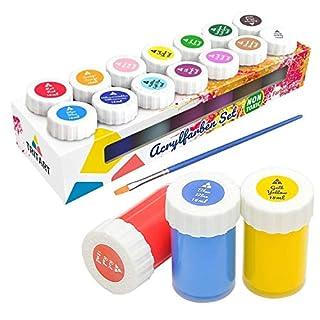 Tritart Acryl-Farben-Set für Kinder und Erwachsene | 14er Acryl Farbset