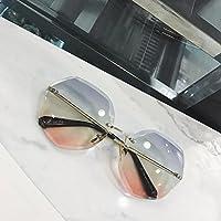 VVIIYJ Small Box Occhiali da sole Occhiali da vista Occhiali da sole quadrati trasparenti Donna ,Cornice oro Trasparente Rosso