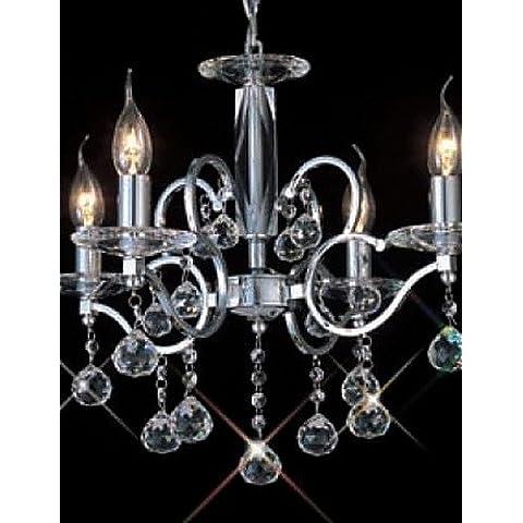 HOLIDAY - lampadari candela dal cristallo con 4 lampadine , (120 Volt 4 Catena Luce)