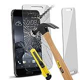 (Pack verre de 1) en verre trempé de protection d'écran pour le verre HTC One A9 Durable verre trempé Crystal Clear + Chiffon & Demande de carte par i- Tronixs