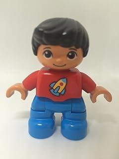 Lego® DUPLO Figur Mutter Mädchen City Haus pink blau LD1