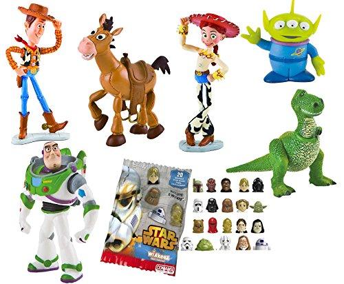 LOTE 6 FIGURAS Bullyland Toy Story - Woody - Buzz Lightyear - Jessy - Perdigón - Rex - Alien + REGALO