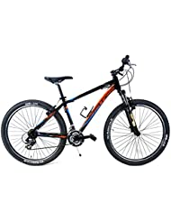 "Ciclismo de Bicicleta Aluminio 27,5"" ADRIATICA"" WING ""RCK-Shimano Cambio Antideslizante 18/V-Nero Naranja/Azul"