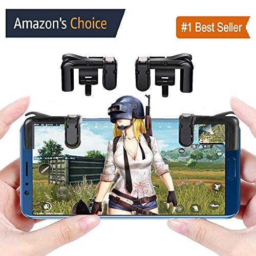 MobiExpress PUBG Trigger, Mobile Game Controller for Android and iPhone (Black)