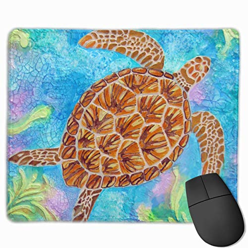 Deglogse Gaming-Mauspad-Matte, Smooth Mouse Pad Swimming Turtle Mobile Gaming Mousepad Work Mouse Pad Office Pad -