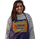 #10: Indigifts Mother's Day Special Pyari Maa Quote Ethnic Indiana Artwork Blue Apron 26x30 inches - Gift for Mother-Mom-Mummy-Maa-Birthday-Anniversary, Apron for Mom Birthday, Cooking Apron