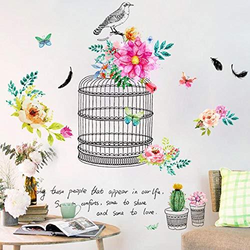 Idyllische Blume Schlafzimmer warme Tapete selbstklebende frische Pflanze Topf Tapete Aufkleber wasserdicht Spiegel dekorative Aufkleber außerhalb der Welt (Party-spiele Außerhalb Der)