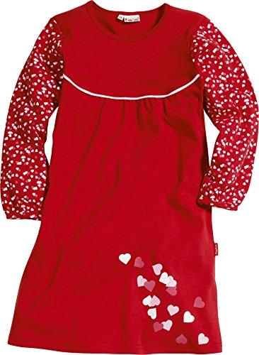 Playshoes Mädchen Nachthemd Interlock Herzen, Rot (original 900), (Herstellergröße: 128)