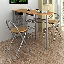 anself juego de mesa y sillas de desayuno para claro