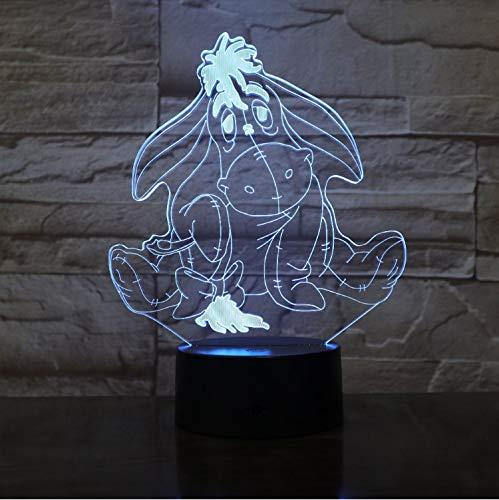 Illusion Lampe Niedlichen Cartoon Mops Hund 3D Led Nachtlicht 7 Farben Ändern Tisch Lampe Home Decor Urlaub Kinder Urlaub Dekor Geschenk (Led-lampe 3497)
