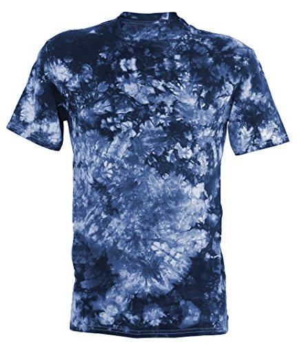 Tie Dye Festival Blue Scrunch T-Shirt L - Gefärbtes T-shirt