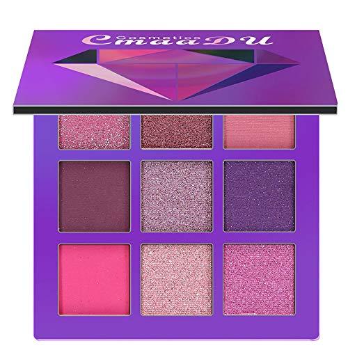 (BHYDRY Cosmetic Matte Eyeshadow Cream Makeup Palette Shimmer Set 9 Farben Lidschatten)