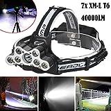 Die besten Wiederaufladbare Headlamps - WYXlink 40000 LM 7X XM-L T6 LED wiederaufladbare Bewertungen