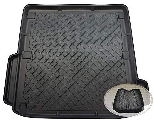 ZentimeX Z3104835 Gummierte Kofferraumwanne fahrzeugspezifisch + Klett-Organizer (Laderaumwanne, Kofferraummatte)