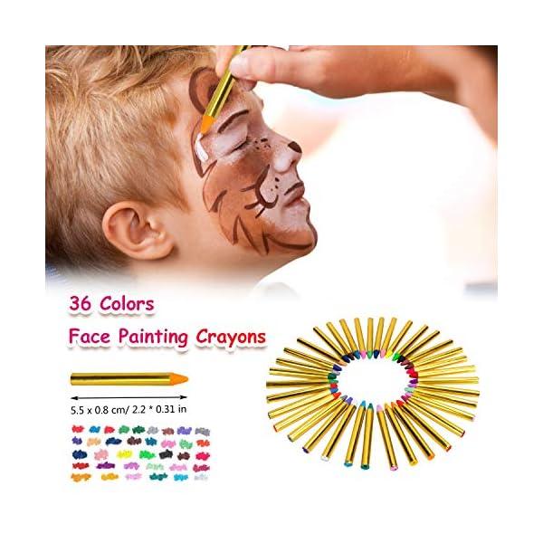 Natale Trucchi per Truccabimbi,Emooqi 36 Colori Fviso Body Paint Pittura con 4 Stencil Face Paint per Bambini, Ideale… 3 spesavip