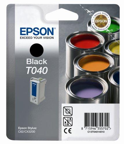 Epson T040140 Tintenpatrone schwarz für Stylus C 62, CX 3200 (Cx3200 Tinte C62 Epson Schwarz)