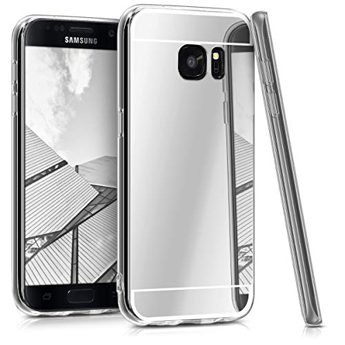 kwmobile Samsung Galaxy S7 Hülle - Handyhülle für Samsung Galaxy S7 - Handy Case in Silber spiegelnd