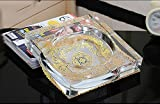 Kristall Glas Aschenbecher, kreative Persönlichkeit Geschenk europäischen Stil chinesischen Stil Wohnzimmer Couchtisch Aschenbecher ( größe : 13CM )