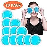 Paquetes De Hielo Redondos Reutilizables De Gel Con Un Forro De Paño, Uso Como Paquetes Calientes O Fríos (Azul – 10 Paquetes)