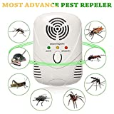 Afzelia Rodent Repellent, Ultrasonic and Electromagnetic Dual Frequency Pest Control Device,White