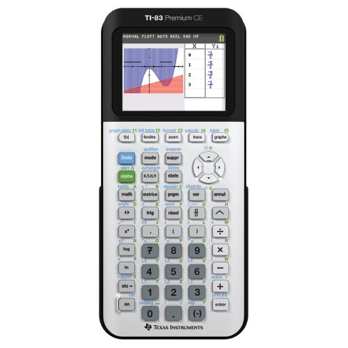 Texas Instruments TI-83 Premium CE Calculatrice scientifique Blanc/Noir