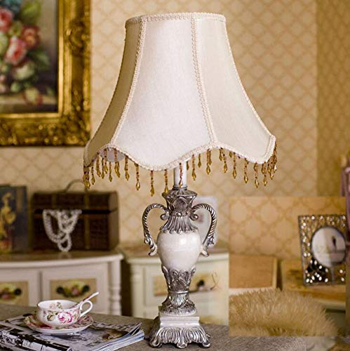 Waiwei Tischleuchte aus Keramik beige weiß antik | Tischlampe E27 | Handgefertigt in Italien | 24 Karat Gold Veredelung