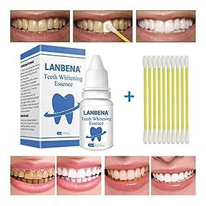 LanLan Pfefferminz Geschmack Zahnaufhellung Essenz Flüssigkeit Mundhygiene Reinigung Entfernt Plaque Flecken Zahnpflege Werkzeug