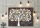 80x60 cm, Leinwanddruck-Gästebuch, Hochzeitsbaum, Wedding Tree, Hochzeitsgästebuch Hochzeitsgeschenk Taufe Kommunion