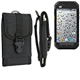 Belt pouch / holster for Caterpillar Cat S30, black | extremely robust Phone Case Smartphone Protective Cover outdoor / camping bag - K-S-Trade (TM)