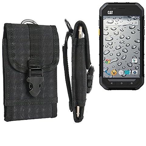 Pochette ceinture / étui pour Caterpillar Cat S30, noir | étui de téléphone Housse de protection sac - K-S-Trade (TM)
