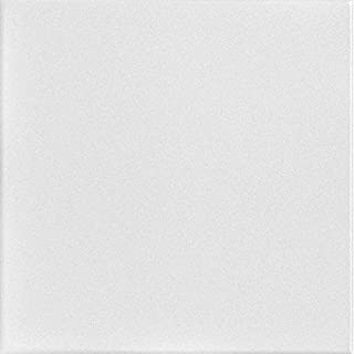 A la Maison Ceilings 814 Basic White - Styrofoam Ceiling Tile (Package of 8 Tiles), Plain White