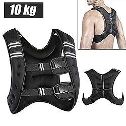 MUPAI Gewichtweste Trainingsweste 10kg Gewichte Weste Laufweste 36 * 20 * 9cm Fitness