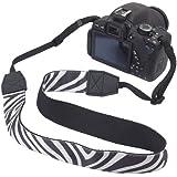 Galleria fotografica BIRUGEAR Tracolla di Neoprene per Fotocamera DSLR - Bianco e nero modello della zebra