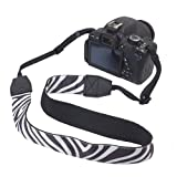 BIRUGEAR Camera Shoulder / Neck Strap Anti-Slip Neoprene Belt for Canon, Nikon, Sony, FujiFilm, Panasonic, Olympus, Pentax, DSLR SLR Digital Camera - Zebra Stripes Pattern