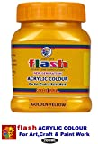FLASH Acrylic Metallic Colour -Golden Yellow 200ML