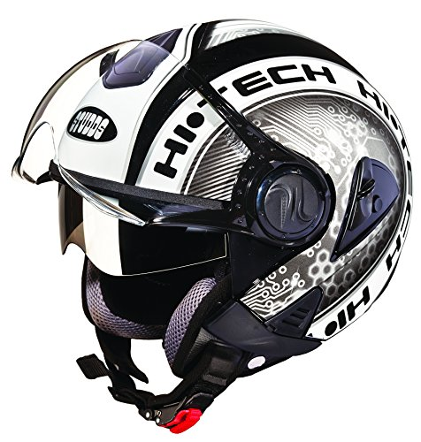 Studds Downtown D2 Open Face Helmet (Black N4, L)