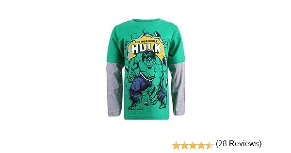 Marvel Hulkpose Maglietta a Maniche Lunghe Bambino