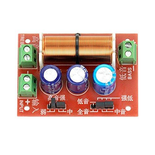 2Pcs 400W Altavoz Ajustable Agudos / Graves 2 Unidades Divisor de Frecuencia de Audio Filtros de 2 Vías Crossover