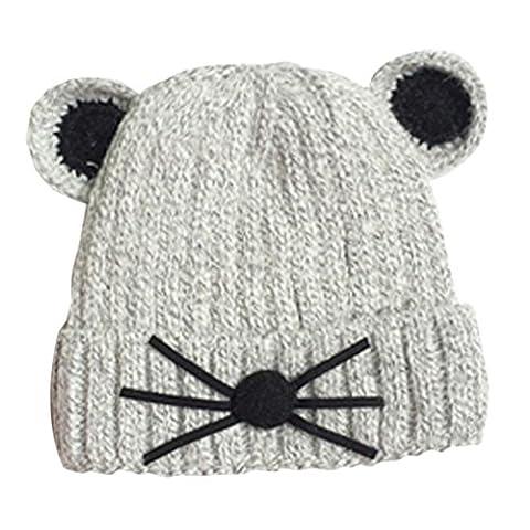 Bluestercool Chapeau Enfants bébé souris style mignon tricoté hiver Cap